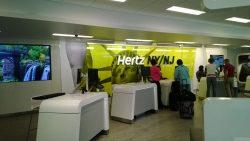 Hertz, una de las empresas de alquiler de coches.